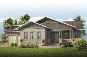 Wilshire - Craftsman Elevation - 2,989 - 3,170 sqft, 4 Bedroom, 3 Bathroom - Cardel Homes Tampa