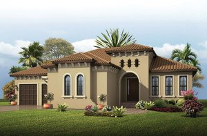 Wilshire - Mizner Elevation - 2,989 - 3,170 sqft, 4 Bedroom, 3 Bathroom - Cardel Homes Tampa