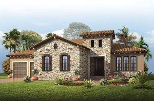 Wilshire - Tuscan Elevation - 2,989 - 3,170 sqft, 4 Bedroom, 3 Bathroom - Cardel Homes Tampa