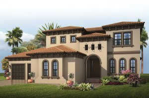 Wilshire 2 - Mizner Elevation - 3,638 - 4,260 sqft, 5 Bedroom, 4 Bathroom - Cardel Homes Tampa