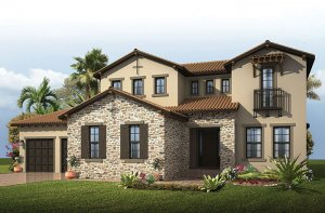 Wilshire 2 - Tuscan Elevation - 3,638 - 4,260 sqft, 5 Bedroom, 4 Bathroom - Cardel Homes Tampa