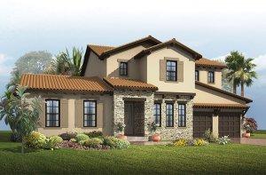 St. Regis - Tuscan Elevation - 3,484 - 3,833 sqft, 4 - 5 Bedroom, 2.5 - 5.5 Bathroom - Cardel Homes Tampa