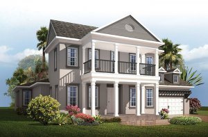 Waldorf - Classical Elevation - 3,661 - 3,672 sqft, 4 - 5 Bedroom, 3.5 - 4 Bathroom - Cardel Homes Tampa