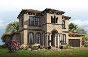 Waldorf - Italian Villa Elevation - 3,661 - 3,672 sqft, 4 - 5 Bedroom, 3.5 - 4 Bathroom - Cardel Homes Tampa