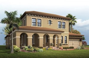 Waldorf - Mizner Elevation - 3,661 - 3,672 sqft, 4 - 5 Bedroom, 3.5 - 4 Bathroom - Cardel Homes Tampa