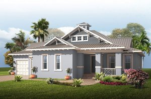 Wilshire MB - Coastal Elevation - 2,989 - 3,170 sqft, 4 Bedroom, 3 Bathroom - Cardel Homes Tampa