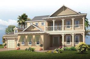 Wilshire 2 MB - Dutch West Indies Elevation - 3,638 - 4,260 sqft, 5 Bedroom, 4 Bathroom - Cardel Homes Tampa