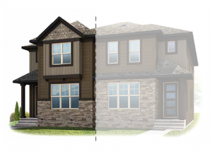 Killarney_Solstice_A_3211_KinsaleRD_Elev Elevation - 1,897 sqft, 3 Bedroom, 2.5 Bathroom - Cardel Homes Calgary
