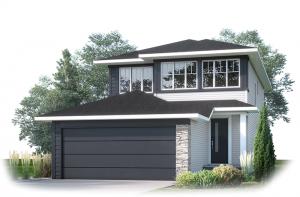 TANDEM-BAY-URBAN-MODERN-F1 Elevation - 2,143 sqft, 3 Bedroom, 2.5 Bathroom - Cardel Homes Calgary