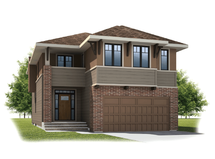 Larch - Prairie S3 Elevation - 2,350 sqft, 3 - 4 Bedroom, 2.5 Bathroom - Cardel Homes Calgary