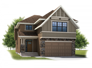 Larch - Rustic S2 Elevation - 2,350 sqft, 3 - 4 Bedroom, 2.5 Bathroom - Cardel Homes Calgary