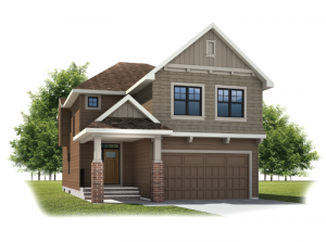 Larch - Shingle S1 Elevation - 2,350 sqft, 3 - 4 Bedroom, 2.5 Bathroom - Cardel Homes Calgary