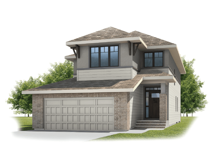 Medora - Prairie S3 Elevation - 2,422 sqft, 3 - 4 Bedroom, 2.5 Bathroom - Cardel Homes Calgary