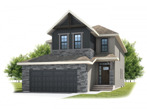 Medora - Rustic S2 Elevation - 2,422 sqft, 3 - 4 Bedroom, 2.5 Bathroom - Cardel Homes Calgary