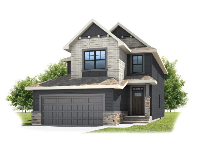 Medora - Shingle S1 Elevation - 2,422 sqft, 3 - 4 Bedroom, 2.5 Bathroom - Cardel Homes Calgary