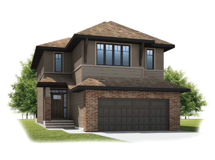 Meyer - Prairie S3 Elevation - 2,312 sqft, 3 Bedroom, 2.5 Bathroom - Cardel Homes Calgary