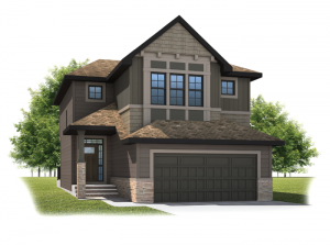 Meyer - Shingle S1 Elevation - 2,312 sqft, 3 Bedroom, 2.5 Bathroom - Cardel Homes Calgary