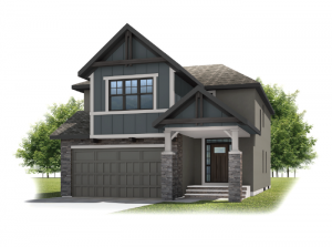 Preston - Rustic S2 Elevation - 2,422 sqft, 4 Bedroom, 2.5 Bathroom - Cardel Homes Calgary