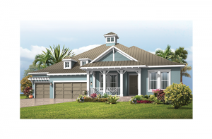 Fairwind - Island Coastal Elevation - 2,482 - 2,710 sqft, 3 - 4 Bedroom, 2.5 - 3 Bathroom - Cardel Homes Tampa
