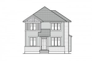 Dunhill - A1 Elevation Elevation - 2,016 sqft, 4 Bedroom, 2.5 Bathroom - Cardel Homes Ottawa