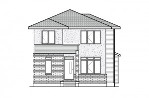 Dunhill - A3 Elevation Elevation - 2,016 sqft, 4 Bedroom, 2.5 Bathroom - Cardel Homes Ottawa