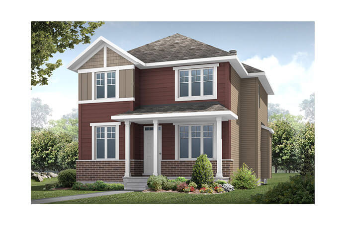 Dunhill - A2 Elevation Elevation - 2,016 sqft, 4 Bedroom, 2.5 Bathroom - Cardel Homes Ottawa