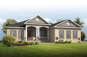 Grand Cayman 2 - Traditional Elevation - 3,044 - 3,444 sqft, 4 Bedroom, 3 - 4 Bathroom - Cardel Homes Tampa