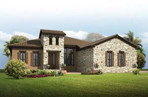 Grand Cayman 2 - Tuscan Elevation - 3,044 - 3,444 sqft, 4 Bedroom, 3 - 4 Bathroom - Cardel Homes Tampa