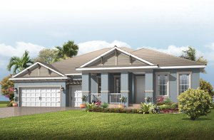 Fairwind - Coastal Cottage Elevation - 2,482 - 2,710 sqft, 3 - 4 Bedroom, 2.5 - 3 Bathroom - Cardel Homes Tampa