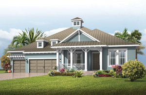 Fairwind - Island Coastal Elevation - 2,482 - 2,710 sqft, 3 - 4 Bedroom, 2.5 - 3 Bathroom - Cardel Homes Tampa