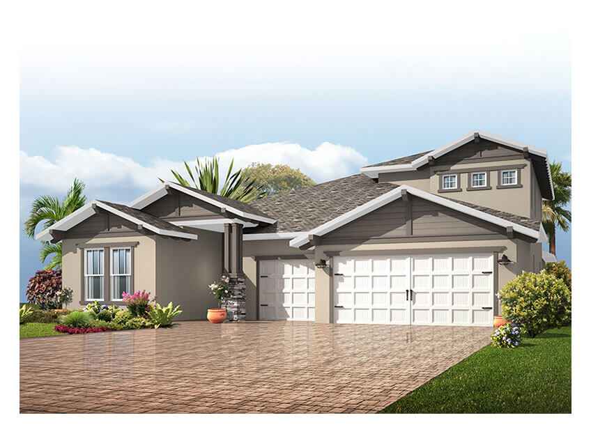 New Tampa Single Family Home Quick Possession Endeavor 3 in FishHawk Ranch, located at 6007 Quartz Lake Way<br />