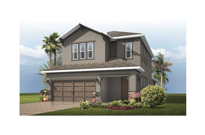 Orchid - Craftsman Elevation - 2,361 - 2,428 sqft, 4 Bedroom, 2.5 - 3.5 Bathroom - Cardel Homes Tampa
