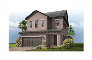 Orchid - Traditional Elevation - 2,361 - 2,428 sqft, 4 Bedroom, 2.5 - 3.5 Bathroom - Cardel Homes Tampa