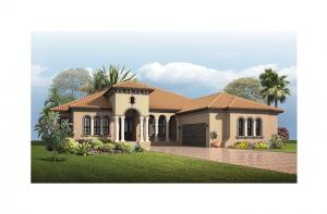 Dolcetto 4 - Italian Villa Elevation - 3,270 - 3,423 sqft, 3 Bedroom, 3 Bathroom - Cardel Homes Tampa