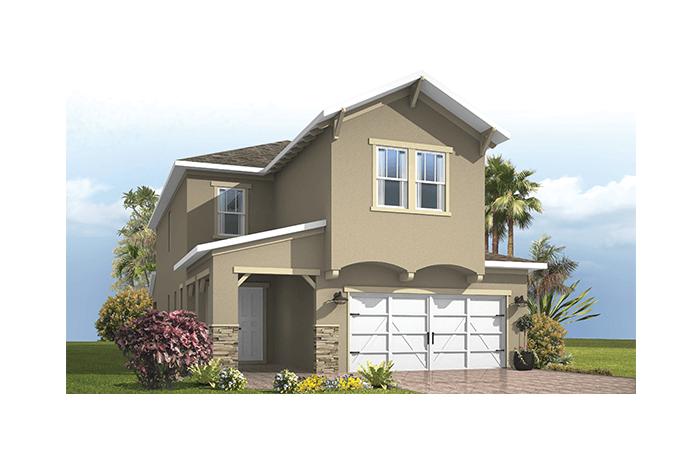 Maple - Craftsman Elevation - 2,861 - 3,009 sqft, 4 Bedroom, 2.5-3.5 Bathroom - Cardel Homes Tampa