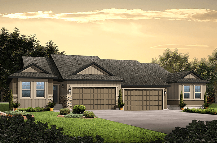 Ponderosa - Ponderosa Elevation - 1,618 sqft, 2 Bedroom, 2 Bathroom - Cardel Homes Denver