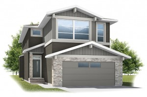 Essence - Eichler F1 Elevation - 2,013 sqft, 3 Bedroom, 2.5 Bathroom - Cardel Homes Calgary