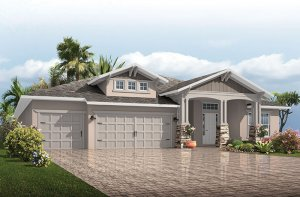 St. Lucia FHR PRES - Craftsman Elevation - 3,336 sqft, 4 - 5 Bedroom, 3 Bathroom - Cardel Homes Tampa