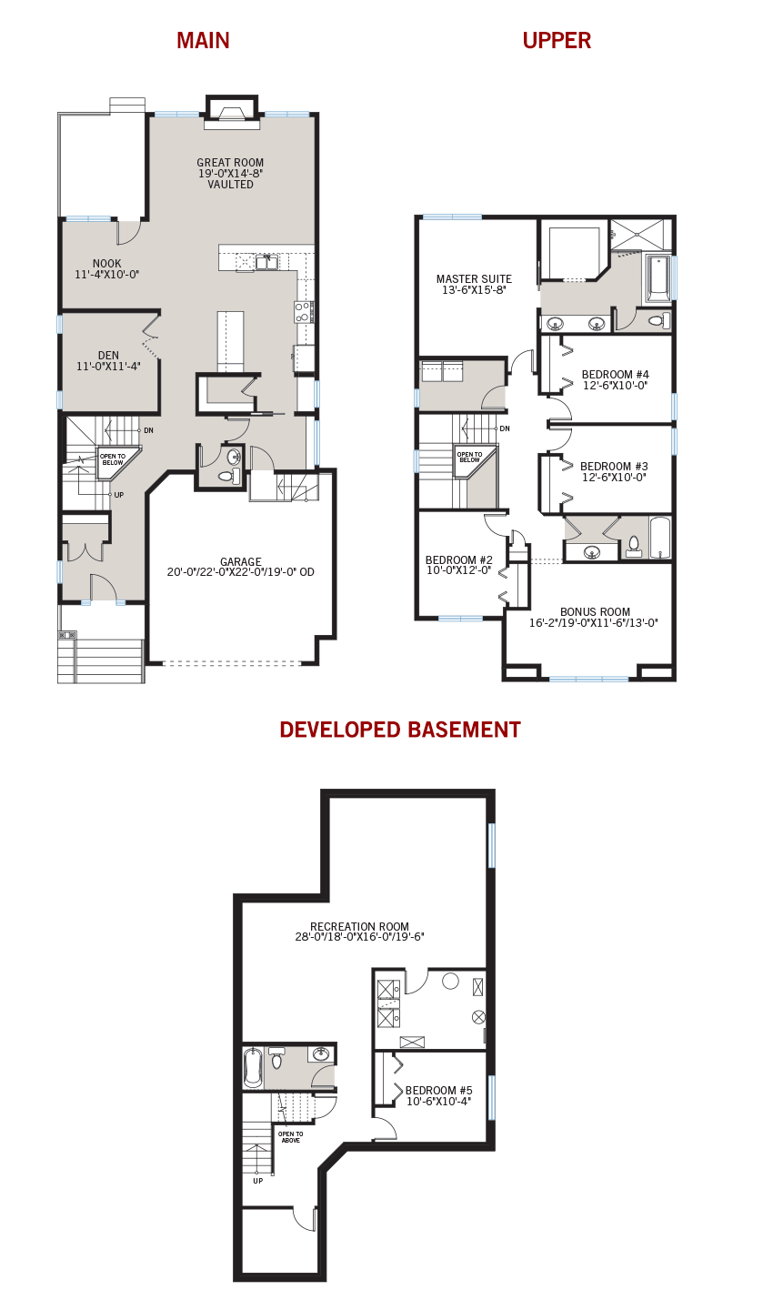 New Calgary Single Family Home Quick Possession Selkirk 2 Floorplan in Shawnee Park, located at 751 SHAWNEE DRIVE SW Built By Cardel Homes Calgary