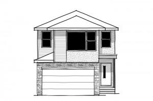 Tandem Bay 4 - Conservative Eichler F3 Elevation - 2,004 sqft, 3 Bedroom, 2.5 Bathroom - Cardel Homes Calgary