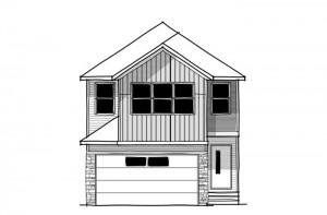 Tandem Bay 4 - Fusion Craftsman F4 Elevation - 2,004 sqft, 3 Bedroom, 2.5 Bathroom - Cardel Homes Calgary
