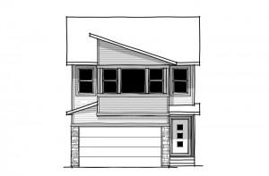 Tandem Bay 4 - Eichler F2 Elevation - 2,004 sqft, 3 Bedroom, 2.5 Bathroom - Cardel Homes Calgary