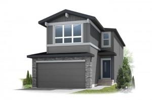 Tandem Bay 4 - Fusion Prairie F1 Elevation - 2,004 sqft, 3 Bedroom, 2.5 Bathroom - Cardel Homes Calgary
