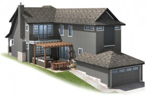 350-IVEYCOURT Elevation - 2,668 sqft, 3 Bedroom, 2.5 Bathroom - Cardel Homes Calgary