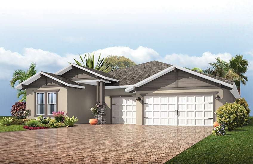 New Tampa Single Family Home Quick Possession Endeavor 3 in Country Walk, located at 4902 Pointe O&#039;Woods Drive<br />
