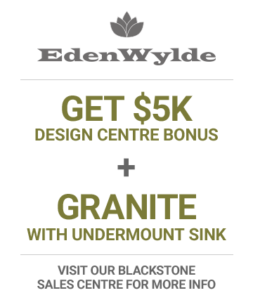 Get a $5,000 Design Center bonus plus granite with undermount sink in EdenWylde
