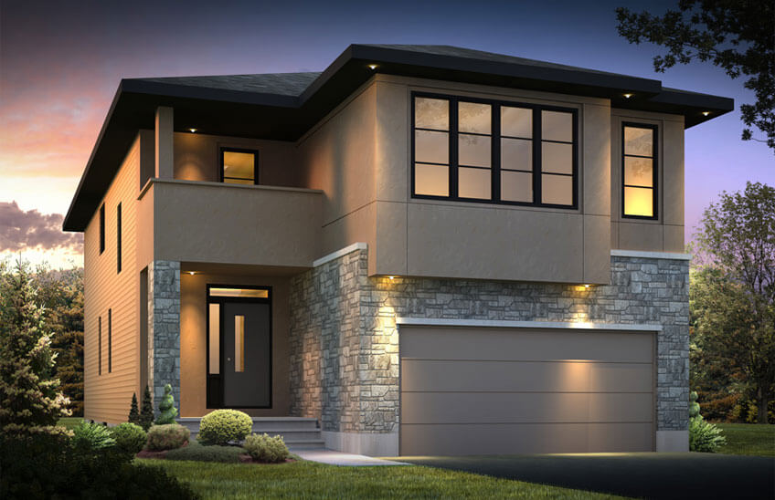 New home in NORTH HAMPTON in Creekside, 2,413 SQFT, 3 - 4 Bedroom, 2.5 Bath, Starting at 580,000 - Cardel Homes Ottawa