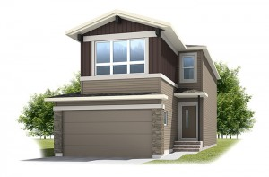 Tandem Bay 4 - Urban Craftsman A1 Elevation - 2,008 sqft, 3 Bedroom, 2.5 Bathroom - Cardel Homes Calgary