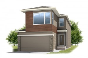 Tandem Bay 4 - Urban Prairie A2 Elevation - 2,008 sqft, 3 Bedroom, 2.5 Bathroom - Cardel Homes Calgary