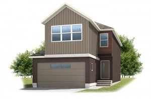 Tandem Bay 4 - Urban Farmhouse A3 Elevation - 2,008 sqft, 3 Bedroom, 2.5 Bathroom - Cardel Homes Calgary